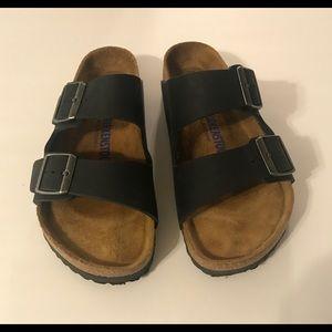 Birkenstock Arizona SFB leather Black Sandal 39
